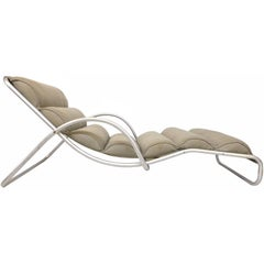 Aluminum Chaise Longue by Halliburton
