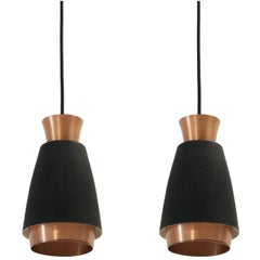 Pair of Scandinavian Ceiling Pendants, 1960s