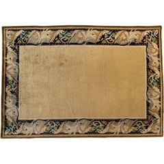 Gold Rug with Floral Border