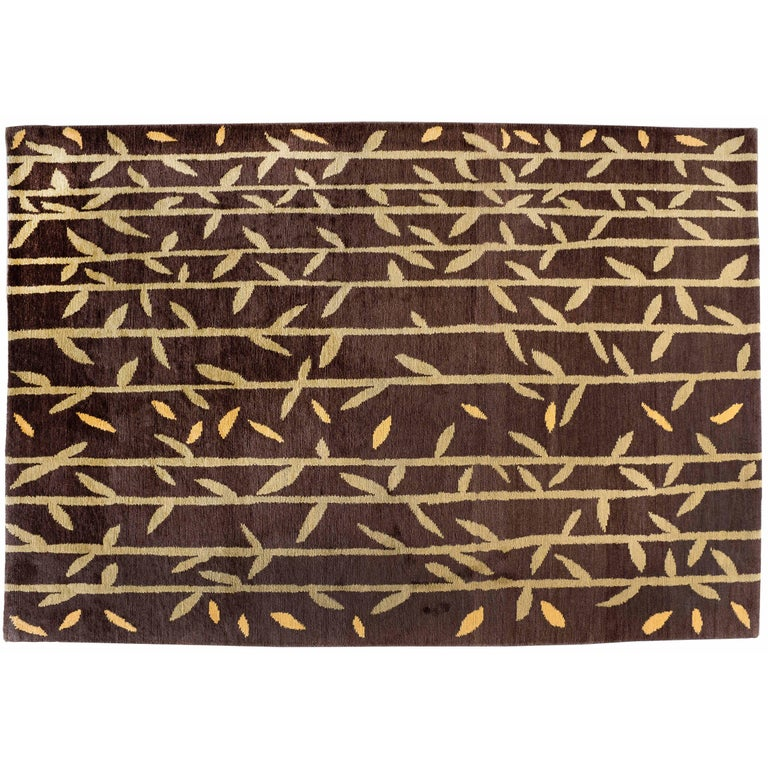 Bamboo Pattern Rug For Sale At 1stdibs