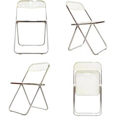 Set of Four Folding Chairs 'Plia' by Giancarlo Piretti