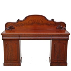 Antique Large Quality Victorian Flame Mahogany Sideboard Chiffonier Dresser