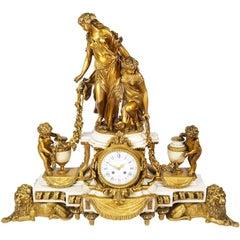Large Louis XVI Style Mantel Clock, by Raingo Fres, Paris