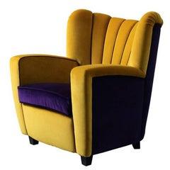"""Zarina Baby"" Fabric Little Armchair Designed by Cesare Cassina, Adele-C"