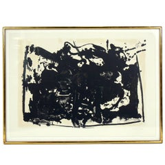 Large-Scale Abstract Lithograph La Guerra II by Robert Motherwell