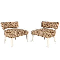 Pair of Elegant Slipper Chairs in the Manner of Billy Haines