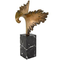 Bronze Sculpture of a Stylized Eagle José Luis Pequeno, 1970s