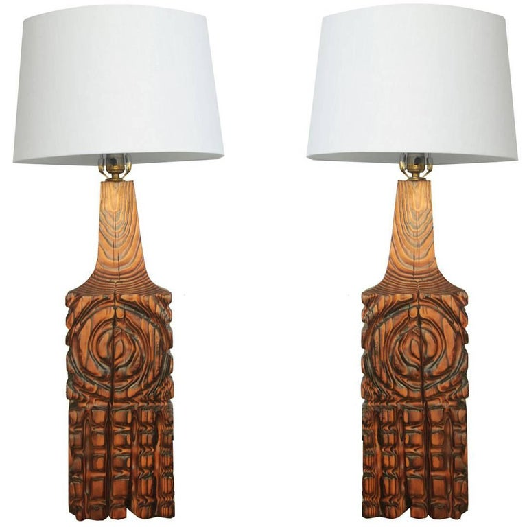 Pair of Vintage Large Table Lamps