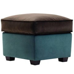 """Zarina Pouf"" Fabric Ottoman Designed and Manufactured by Adele-C"
