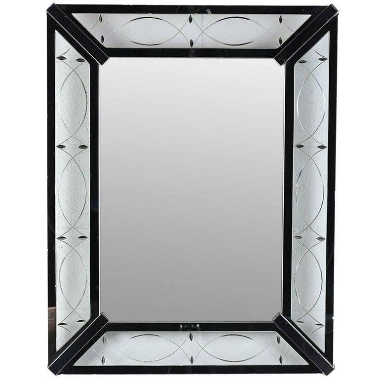 Vintage Modern-Style Rectangular Wall Mirror