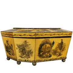 Regency Satinwood and Stenciled Box