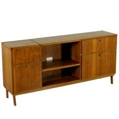 Cupboard Mahogany Veneer Vintage Manufactured in Italy 1940s-1950s