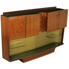 Cupboard with Bar Compartment Rosewood Veneer Vintage, Italy, 1950s