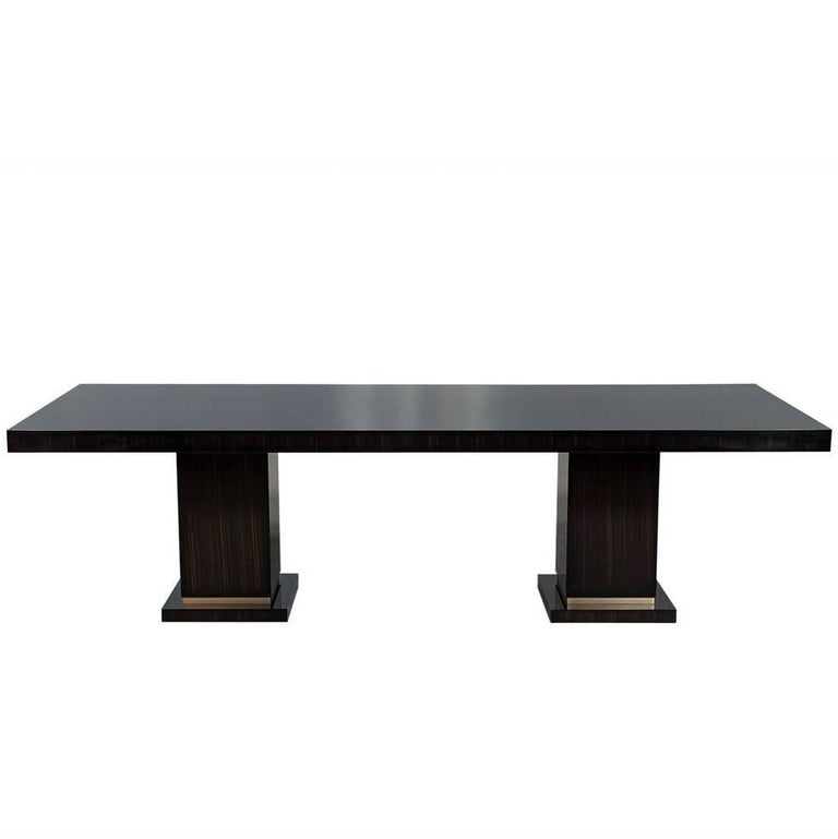 Carrocel Custom Macassar Slab Top Modern Dining Table