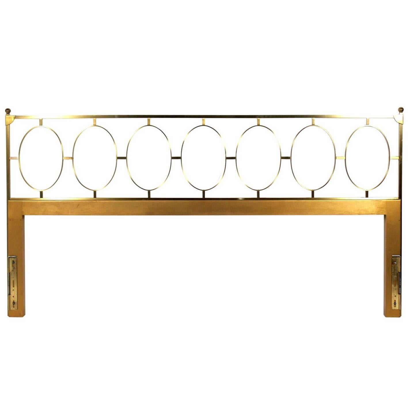 brass and iron bed in black mk126