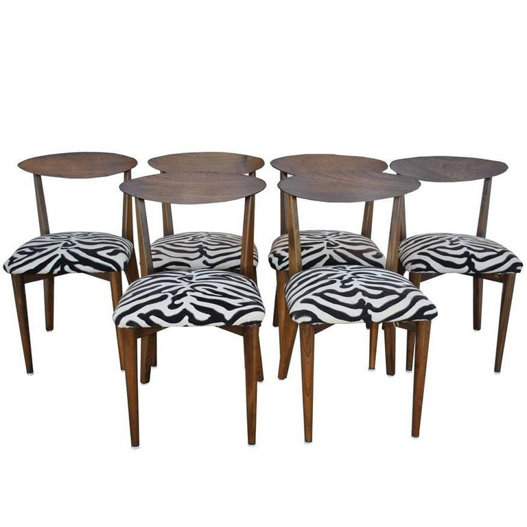 Six Vintage Midcentury Dining Chairs in the Manner of Kurt Ostervig