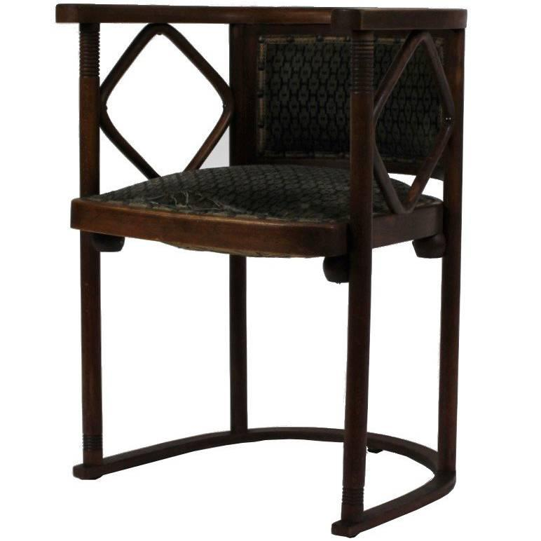 Bon Josef Hoffmann Fledermaus Chair, Model No. 728, J. U0026 J. Kohn