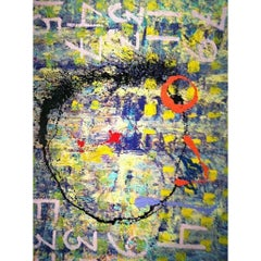 "BK Adams, I Am Art ""Brainiac"" Mixed-Media on Canvas"