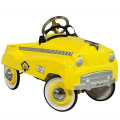Original Vintage Style Childs NYC Taxi Cab Pedal Car
