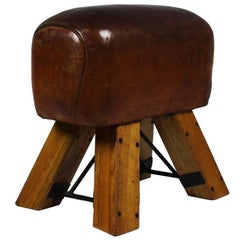 1950s Leather Gym Seat