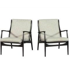 Pair of Erik Andersen Palle Perdersen for Horsnaes Chairs