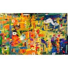 "BK Adams, I Am Art ""Butterflies"", Acrylic on Canvas"