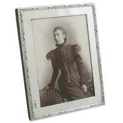 1903 Antique Edwardian Sterling Silver Photograph Frame