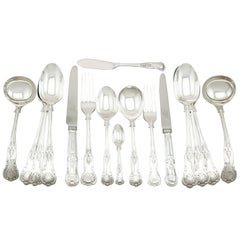 1920s Sterling Silver Canteen of Cutlery for 12 Persons