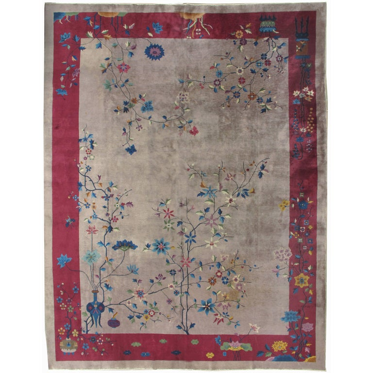 Vintage Art Deco Chinese Rug For Sale At 1stdibs