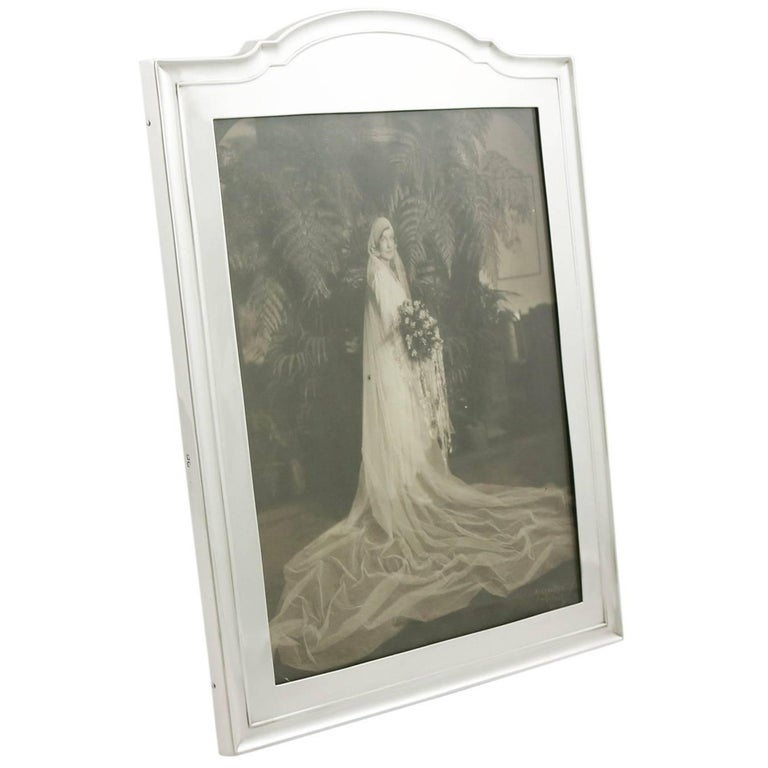 1910s Antique Sterling Silver Photograph Frame For Sale At 1stdibs