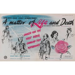 """""""A Matter of Life and Death"""", Advertisement Poster"""