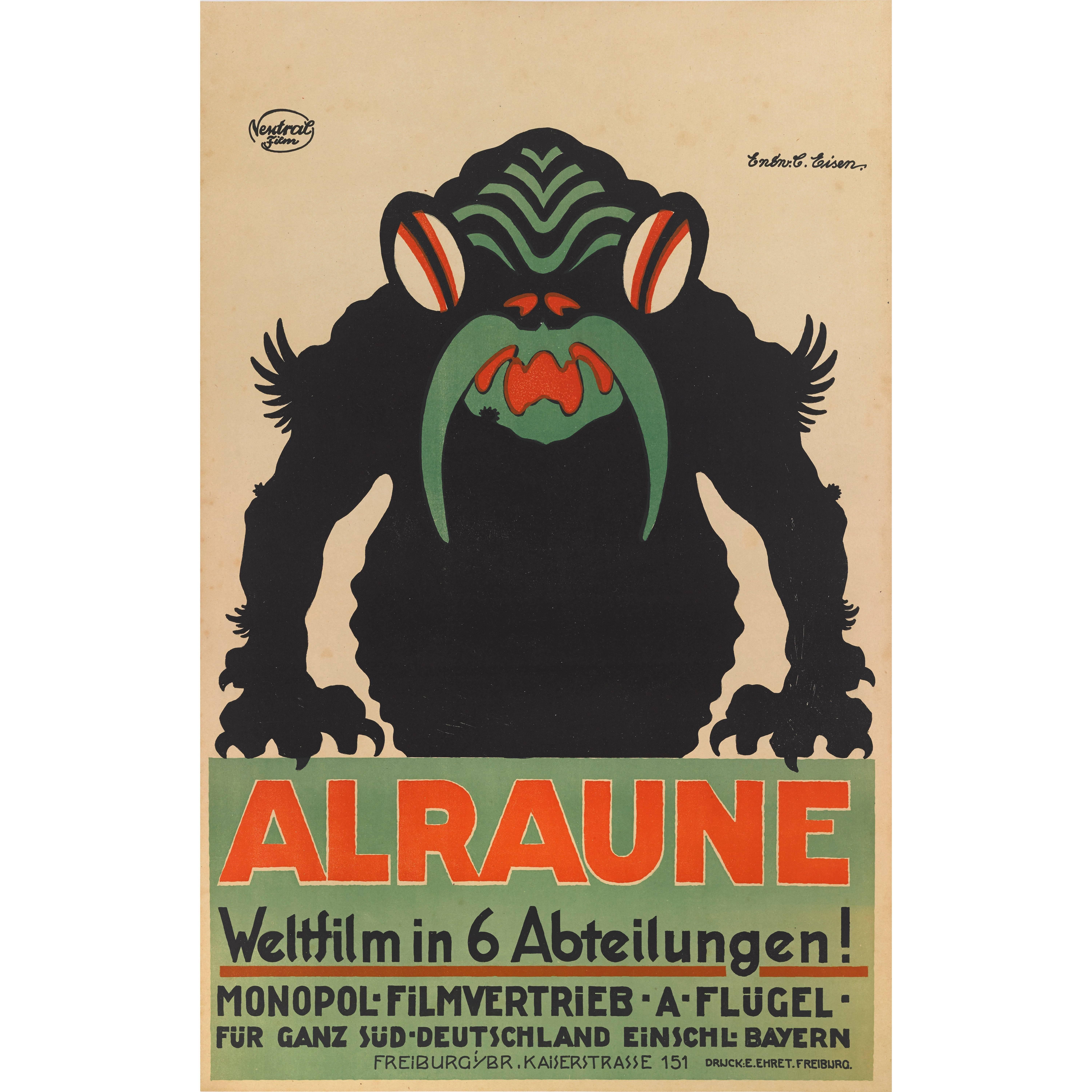 """""""Alraune"""", Original German Movie Poster"""