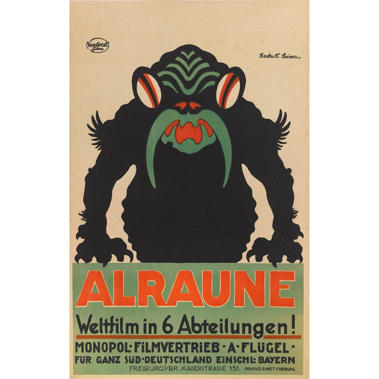 """Alraune"", Original German Movie Poster For Sale"
