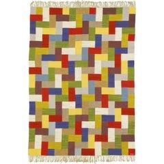 Mid-20th Century Swedish Flat-Weave Carpet by Ingrid Hellman-Knafve