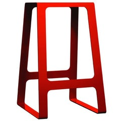 A_Stool Powder Coated Aluminum Counter Height in Traffic Red by Jonathan Nesci