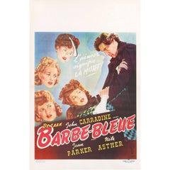 """Bluebeard / Barbe-Bleue"" Belgian Movie Poster"