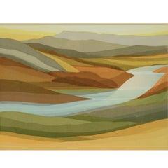 Kensuke Wakeshima Serigraph 9 of 75 Hudson Valley River