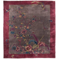 Chinese Handwoven Deco Carpet