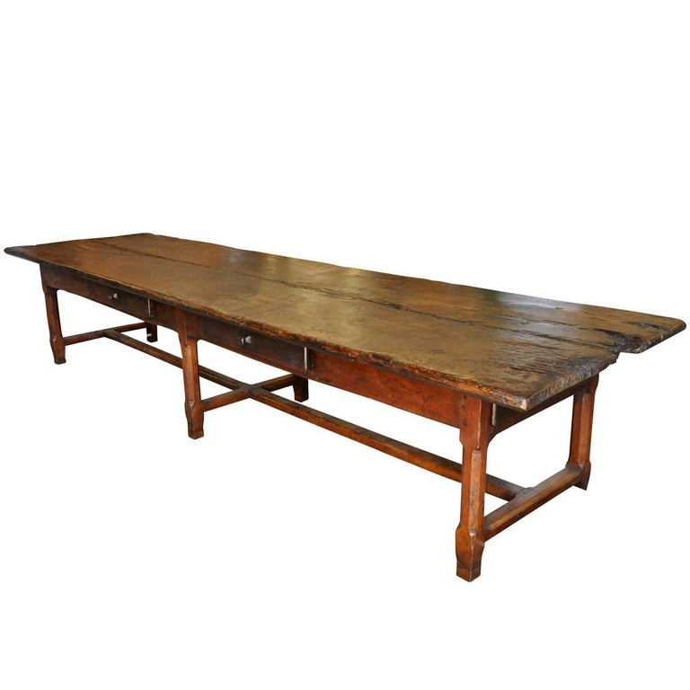 Monumental French, Late 17th Early 18th Century Farm Table