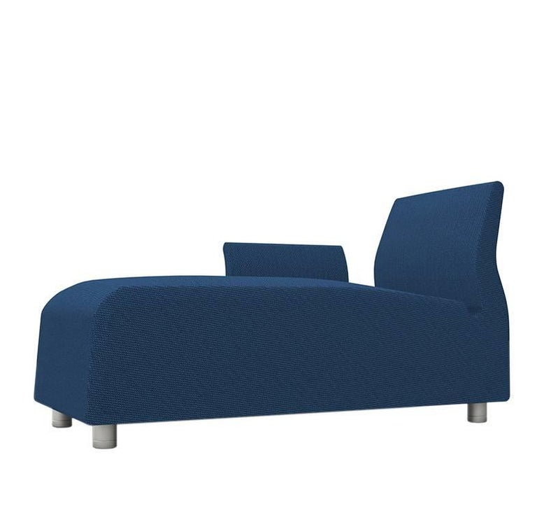 Lounge conversation upholstered blue sofa satyendra for Blue sofas for sale