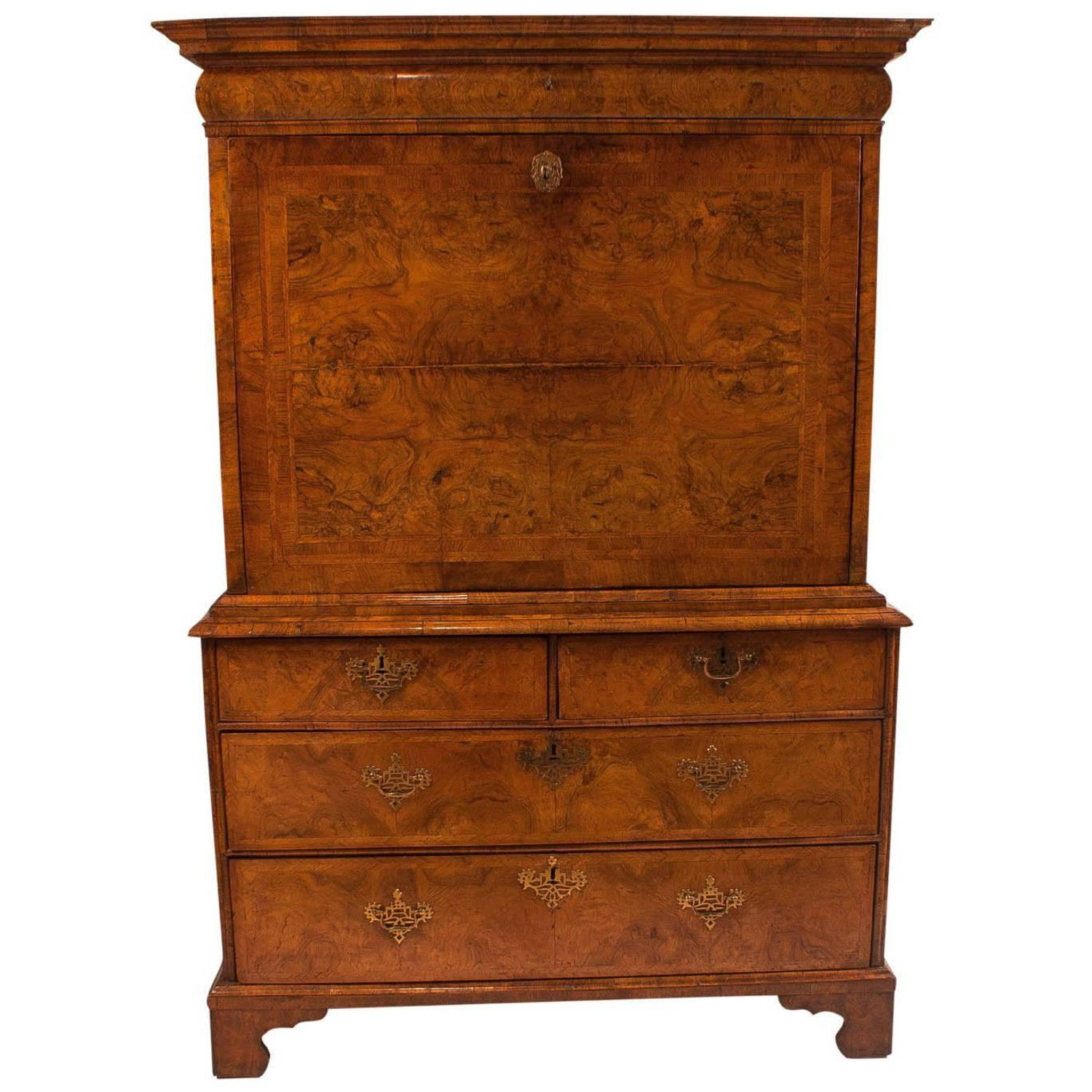 Queen Anne Walnut Secretary / Escritoire England, circa 1710 - Queen Anne Furniture - 519 For Sale At 1stdibs