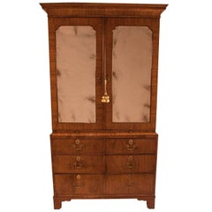 George II Period Walnut Linen Press