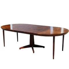 Mid-Century Modern Ford for Widdicomb Wood Oval Dining Expandable Table