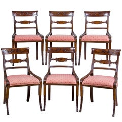 Set of Six Classical Mahogany Dining Chairs, Phyfe Circle, New York, circa 1810