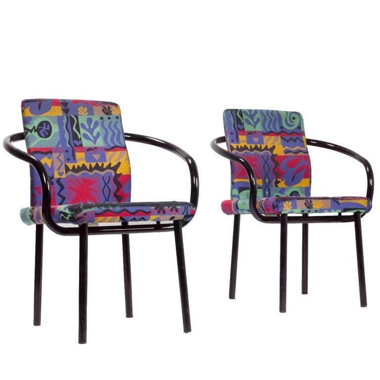 Pair of Ettore Sottsass Mandarin Chairs for Knoll