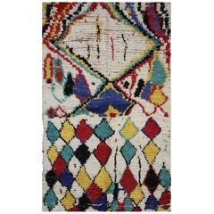 Vintage Moroccan Azilal Rug, Tribal Style Berber Moroccan Rug