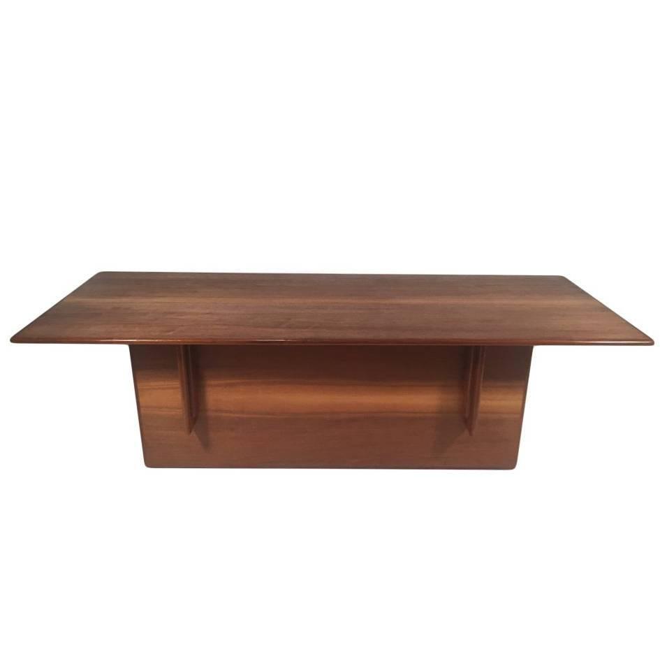 frank lloyd wright designed walnut coffee table for falling water circa