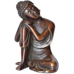 Bronze Buddha Statue, a Thinking Buddha