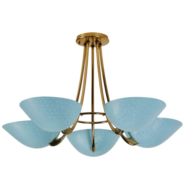 Rare Swiss Chandelier by Bag-Turgi For Sale