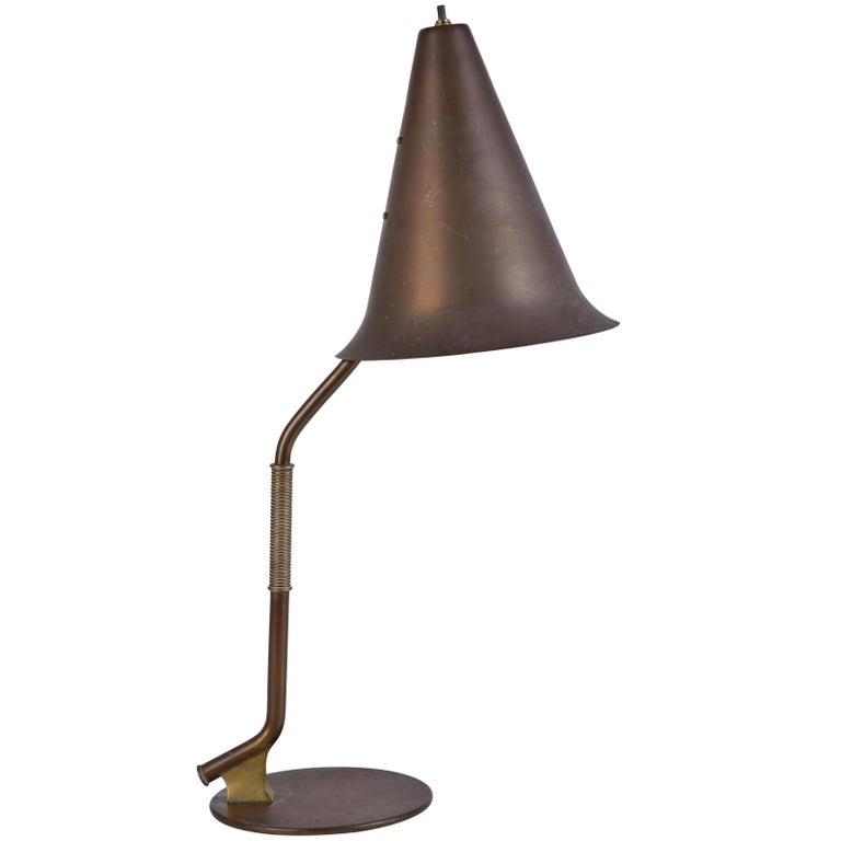 Rare and Important Swedish Table Lamp For Sale